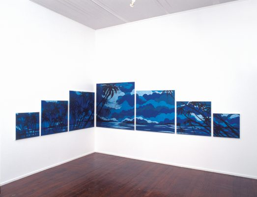 The Paradise Suite, 2004, Glitterdust on 7 canvases, total size 1252 x 6074mm