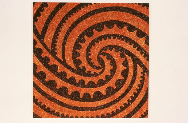 The Maori and the Mini, 2004, Glitter on canvas, 7000 x 6500 mm.